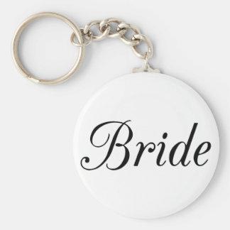 Bride Basic Round Button Key Ring