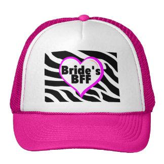 Brides BFF (Heart Zebra Print) Cap