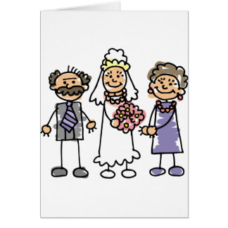 Brides Parents Wedding Day Before Ceremony Greeting Card