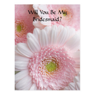 Bridesmaid Request Postcard