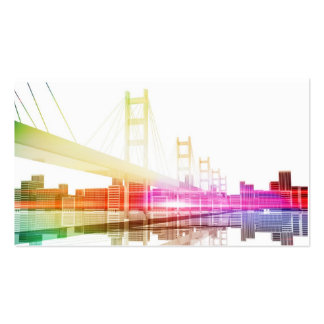 Bridge with City skyline in the background Pack Of Standard Business Cards
