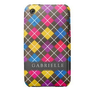 Bright Argyle Pattern iPhone 3 Cases