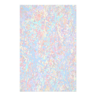 Bright Blue Paint Splatter Abstract Customised Stationery