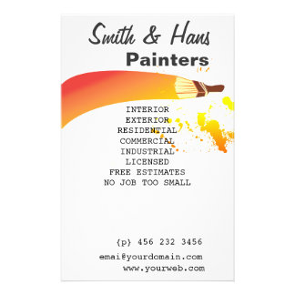 Bright Colorful House Painter Artist 14 Cm X 21.5 Cm Flyer