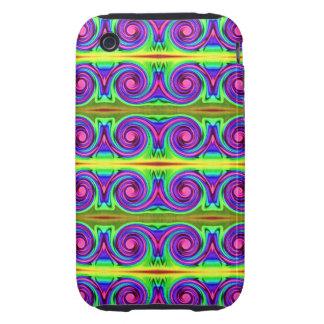 bright colorful pattern tough iPhone 3 cases