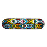 Bright colours African pattern Skateboard Deck