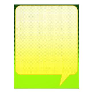 Bright Comic Letterhead Green/Yellow 21.5 Cm X 28 Cm Flyer