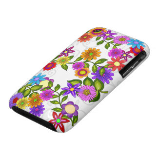 Bright Flowers iPhone 3 Case-Mate Case