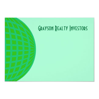 Bright Green Global Business 13 Cm X 18 Cm Invitation Card