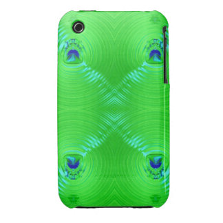 Bright green ripple 4 iPhone 3 Case-Mate case