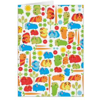 Bright Guinea Pig Patch Greeting Card