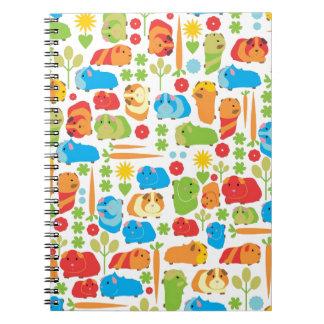 Bright Guinea Pig Patch Spiral Notebook