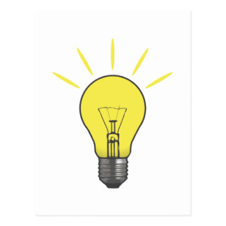 Bright Idea Light Bulb Postcard