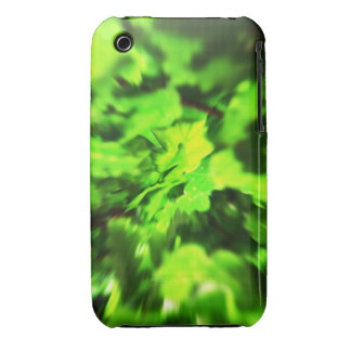 Bright Lime Green and Dark Green Abstract. iPhone 3 Cases