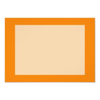 bright orange DIY custom background template 13 Cm X 18 Cm Invitation Card