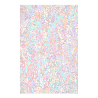 Bright Paint Splatter Abstract Stationery Paper