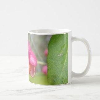 Bright Pink Eastern Wahoo Berry Basic White Mug