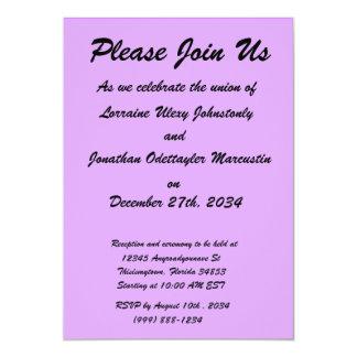 bright purple do it yourself design template 13 cm x 18 cm invitation card
