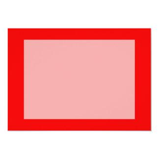 bright red DIY custom background template 13 Cm X 18 Cm Invitation Card