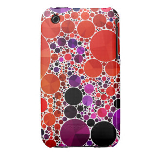 Bright Red Purple Bling Abstract iPhone 3 Case