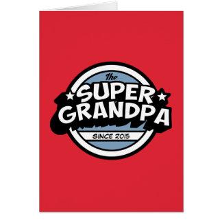Bright Red Super Grandpa Greeting Card