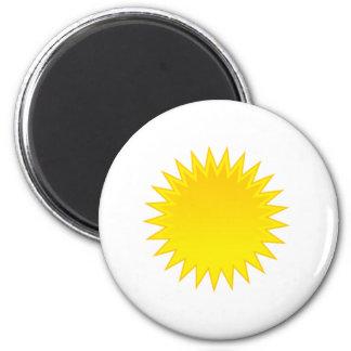 Bright Sun 6 Cm Round Magnet