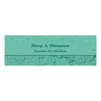Bright Turquoise Stucco Texture Pack Of Skinny Business Cards