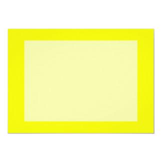 bright yellow DIY custom background template 13 Cm X 18 Cm Invitation Card