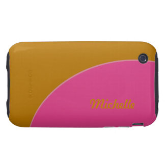 Bright Yellow Pink Mode Retro iPhone 3 Tough Covers