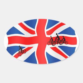 British cycling oval sticker