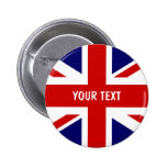 British flag buttons   Personalised Union Jack