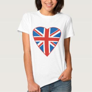 British Flag Heart Tee Shirts