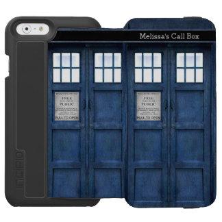 British Police Phone Call Box - Retro 1960s Style Incipio Watson™ iPhone 6 Wallet Case