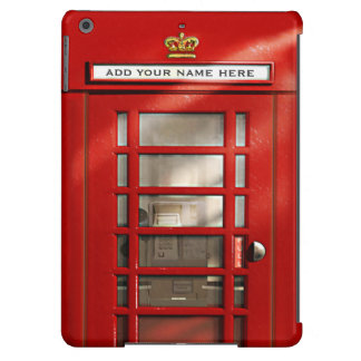 British Red Telephone Box Personalized iPad Air Covers