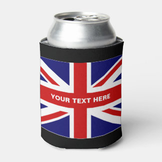 British Union Jack flag can coolers | Personalize