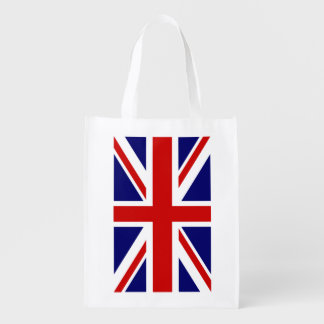 British Union Jack flag grocery shopping bag