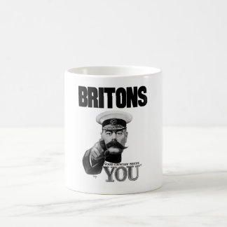 Britons Your Country Needs You - Lord Kitchener Basic White Mug