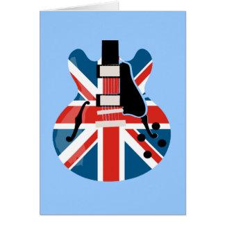 Britpop Guitar Greeting Card