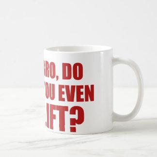 Bro, Do You Even Lift? Basic White Mug