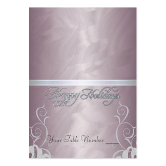 Bronze Foil Silver Ribbon Holiday Table Placecard Pack Of Chubby Business Cards