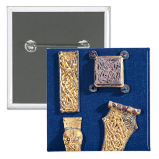 Brooch and buckles 15 cm square badge