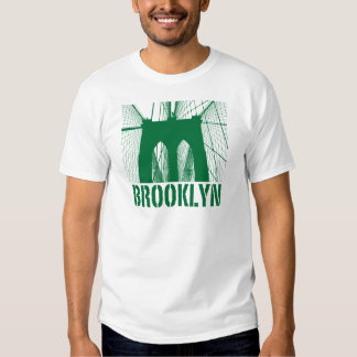 Brooklyn Bridge silhouette green T-shirts