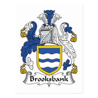 Brooksbank Family Crest Postcard