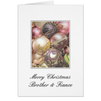 brother and fiance Merry Christmas card