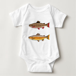 Brown and brook trout tees