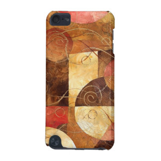 Brown and Pink Abstract Painting iPod Touch 5G Cases