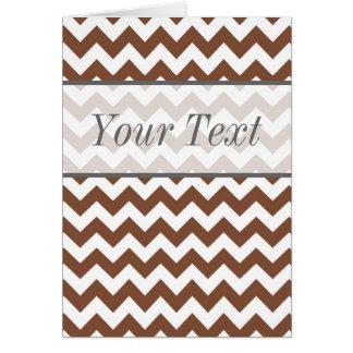 Brown Chevron Zig-Zag Pattern Greeting Card