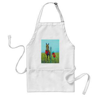 Brown Christmas Horse Standard Apron