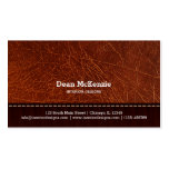 Brown leather look interior design pack of standard business cards