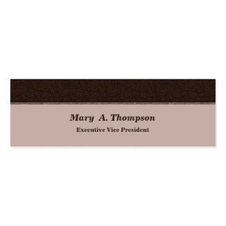 Brown Texture Pack Of Skinny Business Cards